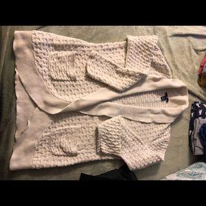 Gap open front cardigan. Chunky knit xl pockets